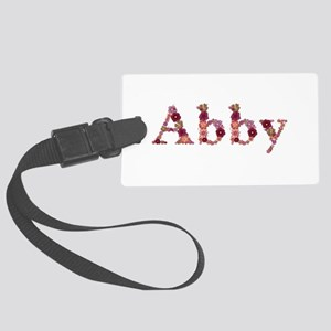 Abby Pink Flowers Large Luggage Tag