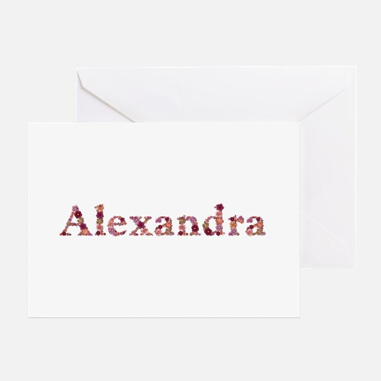 Alexandra Pink Flowers Greeting Card