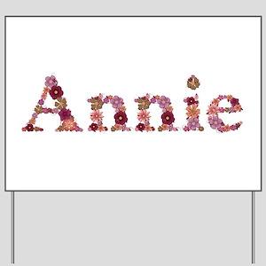 Annie Pink Flowers Yard Sign