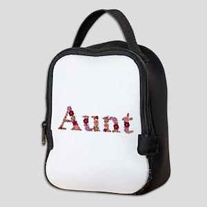 Aunt Pink Flowers Neoprene Lunch Bag