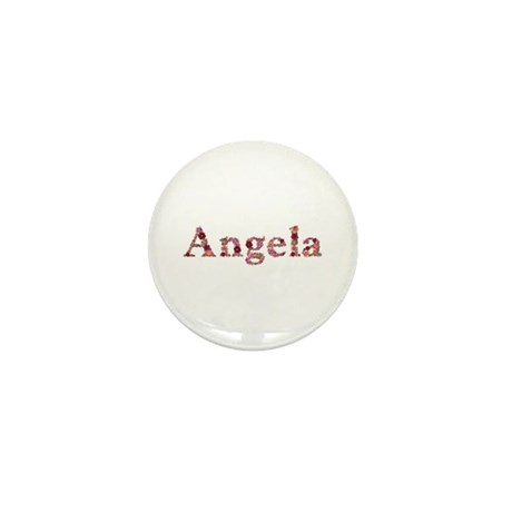 Angela Pink Flowers Mini Button 10 Pack