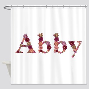 Abby Pink Flowers Shower Curtain