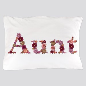 Aunt Pink Flowers Pillow Case