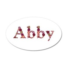 Abby Pink Flowers Wall Decal