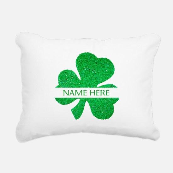 Custom Name Shamrock Rectangular Canvas Pillow