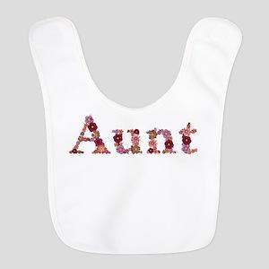 Aunt Pink Flowers Bib