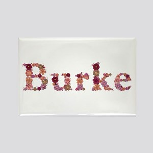 Burke Pink Flowers Rectangle Magnet
