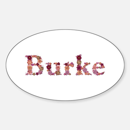 Burke Pink Flowers Oval Decal