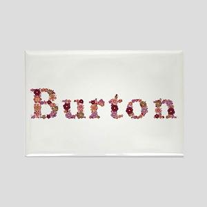 Burton Pink Flowers Rectangle Magnet