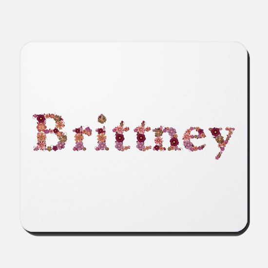 Brittney Pink Flowers Mousepad