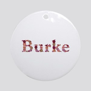 Burke Pink Flowers Round Ornament