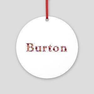 Burton Pink Flowers Round Ornament