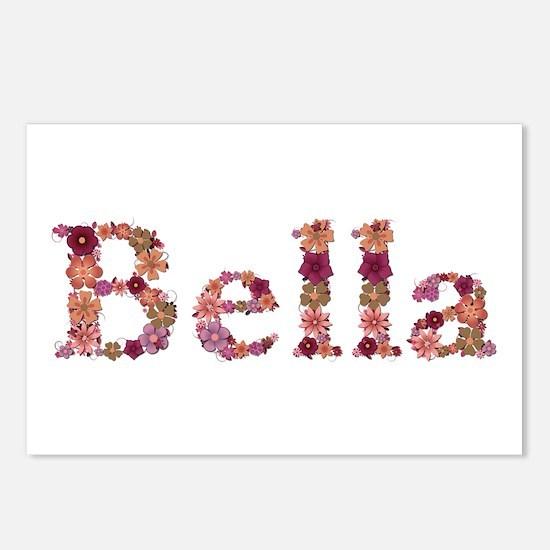 Bella Pink Flowers Postcards 8 Pack