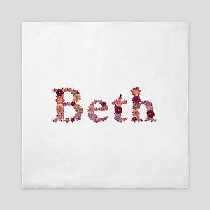 Beth Pink Flowers Queen Duvet