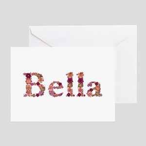 Bella Pink Flowers Greeting Card