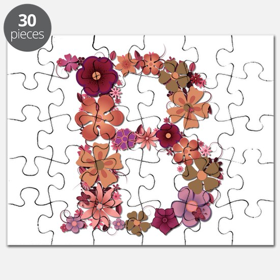 B Pink Flowers Puzzle