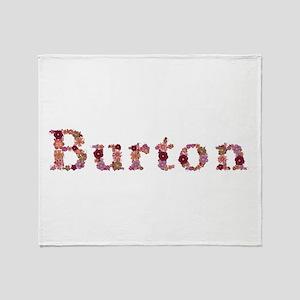 Burton Pink Flowers Throw Blanket