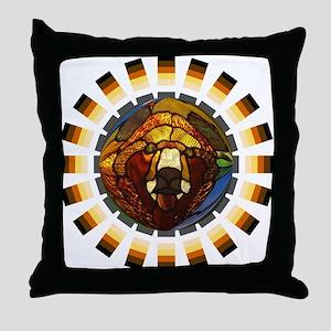 BEAR PRIDE/GLASS BEAR Throw Pillow