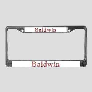 Baldwin Pink Flowers License Plate Frame