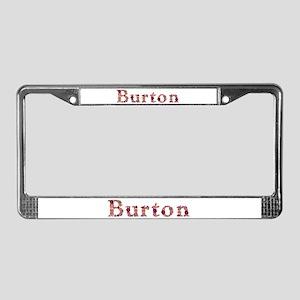 Burton Pink Flowers License Plate Frame