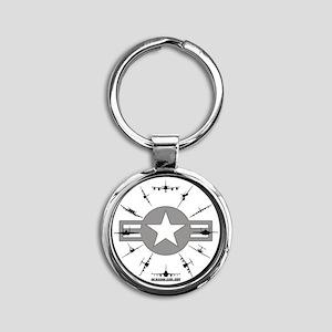CLOCK 3 Round Keychain