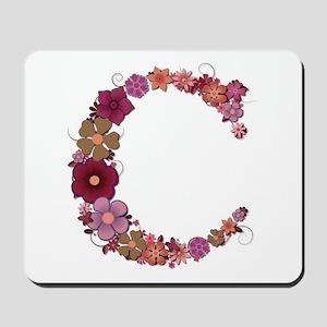 C Pink Flowers Mousepad