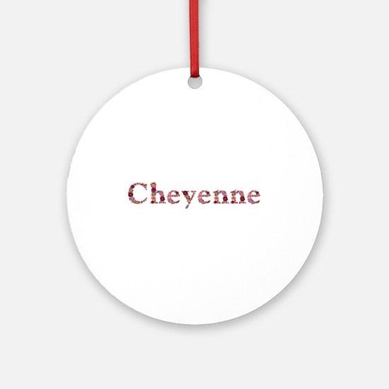 Cheyenne Pink Flowers Round Ornament