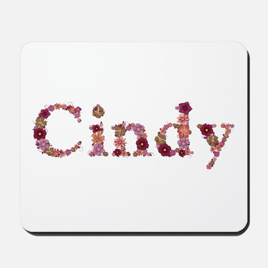 Cindy Pink Flowers Mousepad