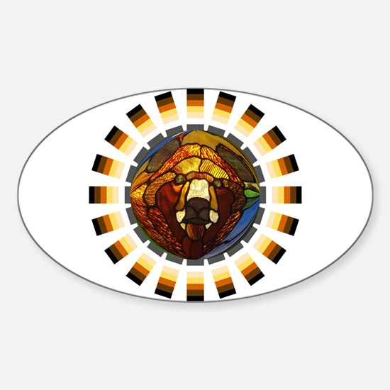 BEAR PRIDE/GLASS BEAR Oval Decal
