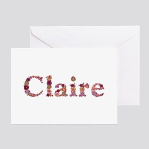 Claire Pink Flowers Greeting Card