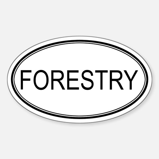 FORESTRY Oval Decal