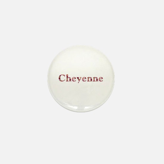 Cheyenne Pink Flowers Mini Button
