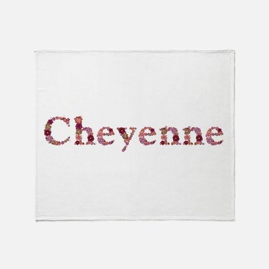 Cheyenne Pink Flowers Throw Blanket