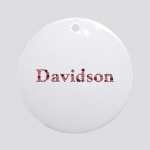 Davidson Pink Flowers Round Ornament
