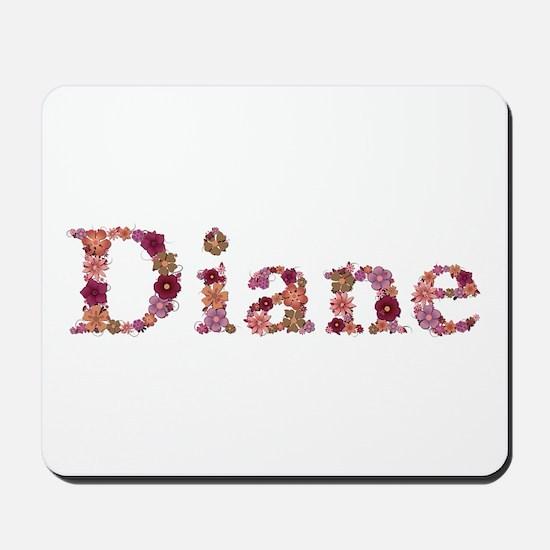 Diane Pink Flowers Mousepad