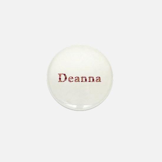 Deanna Pink Flowers Mini Button