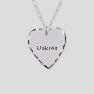 Dakota Pink Flowers Heart Necklace