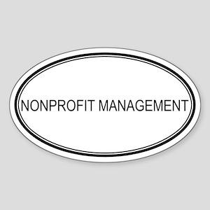 NONPROFIT MANAGEMENT Oval Sticker