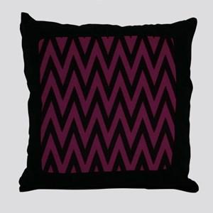 Dark Purple Jags Throw Pillow