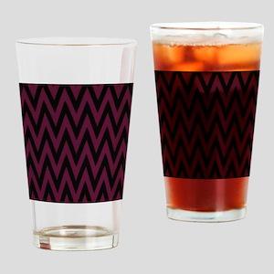 Dark Purple Jags Drinking Glass