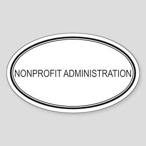 NONPROFIT ADMINISTRATION Oval Sticker