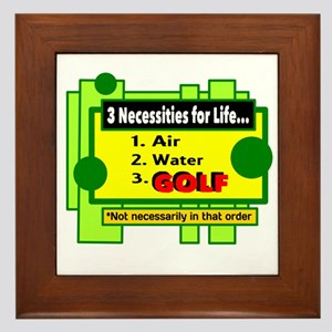 Necessities For Life Framed Tile