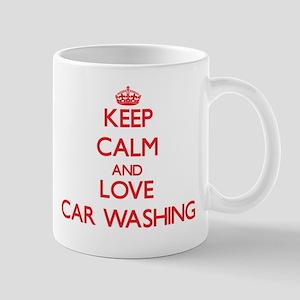 Keep calm and love Car Washing Mugs