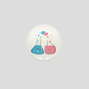 Cute flasks in love, weve got chemistry Mini Butto
