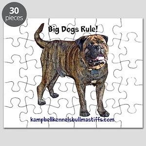 big dogs rule-bullmastiffs Puzzle