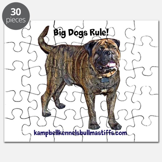 big dogs rule-bullmastiffs Puzzle