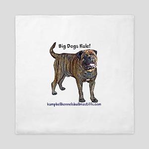 big dogs rule-bullmastiffs Queen Duvet