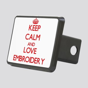 Keep calm and love Embroidery Hitch Cover