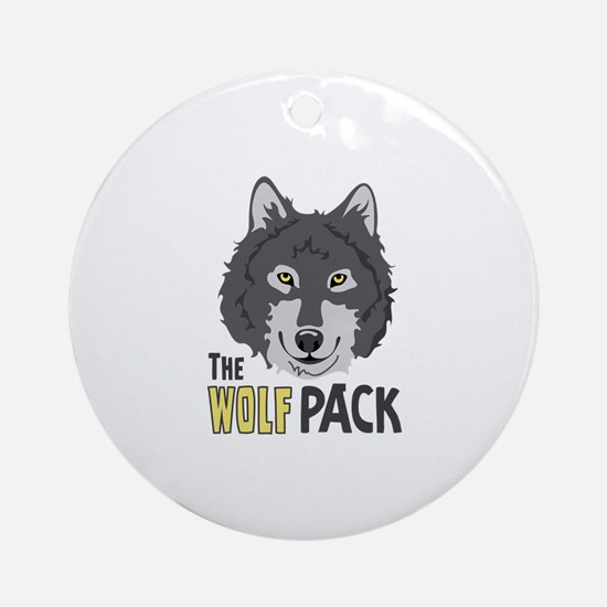 The Wolf Pack Ornament (Round)