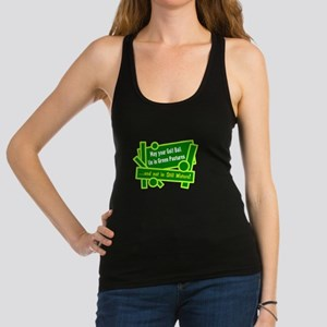 Golf Ball In Green Pastures Racerback Tank Top